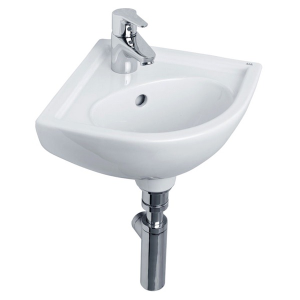 Tulip 440mm 1 Tap Hole Corner Basin