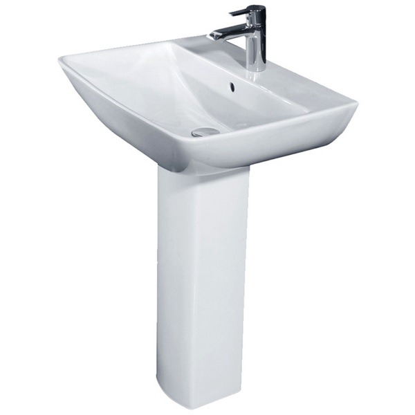 Rose 600mm 1 Tap Hole Basin And Full Pedestal