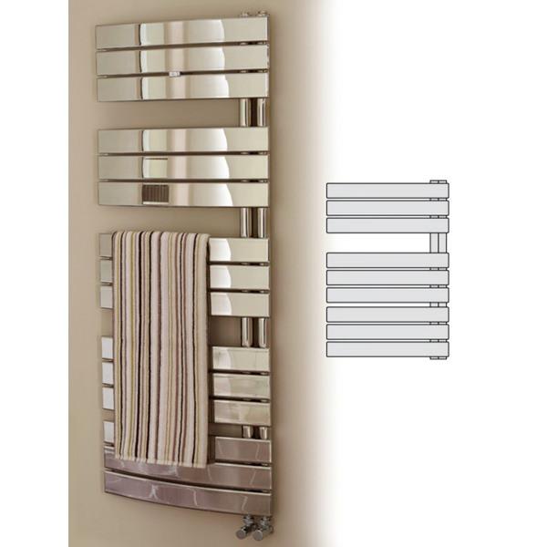 Prism Designer Chrome Curved Towel Warmer 550 x 780mm