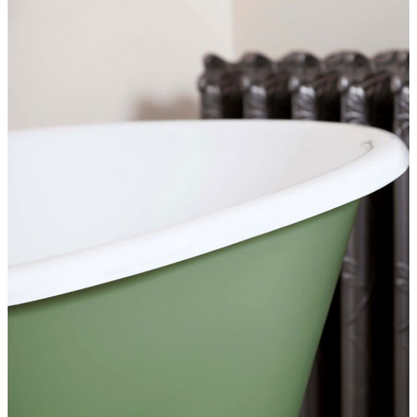 Alternate image of JIG Lille Cast Iron Free Standing Bath With Feet 1450 x 700mm