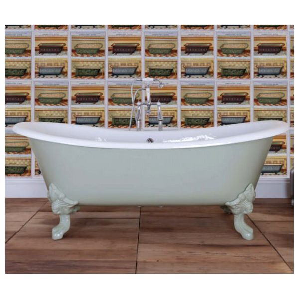 JIG Belvoir Cast Iron Free Standing Bath With Feet 1840 x 780mm