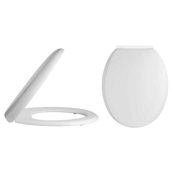 Lauren Standard 360mm Round Soft Close Toilet Seat And Cover