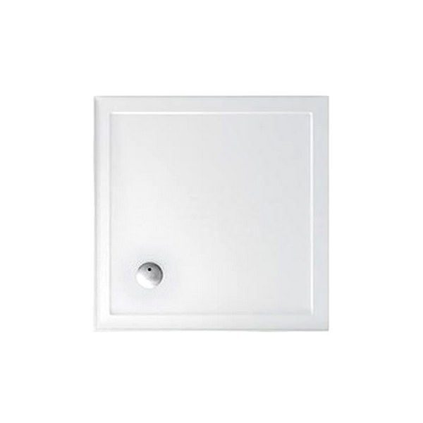Britton Zamori 1010mm Square Shower Tray With Two Sided Upstand