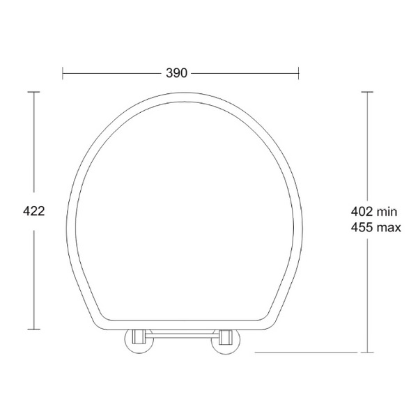 Alternate image of Imperial Oval Toilet Seat With Standard Hinge