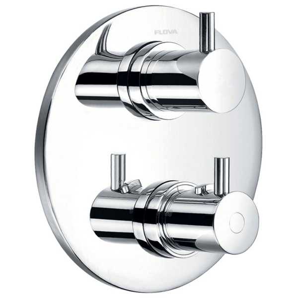 Flova Levo Concealed Thermostatic Shower Valve With 2 Way Diverter - Round