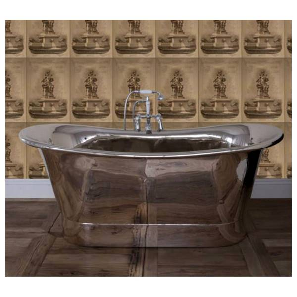 JIG Normandy Free Standing Copper Bath Nickle Finish 1730 x 710mm