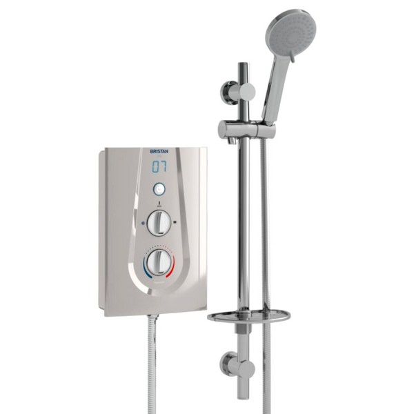 Bristan Joy 8.5KW Electric Shower Metallic Silver