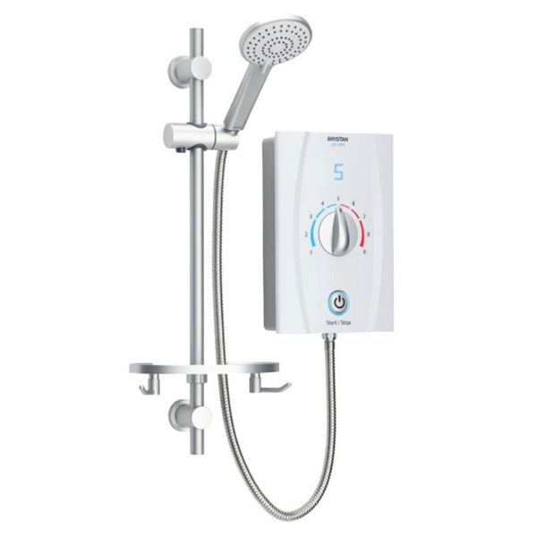 Bristan Joy Care Thermostatic 9.5KW White Electric Shower