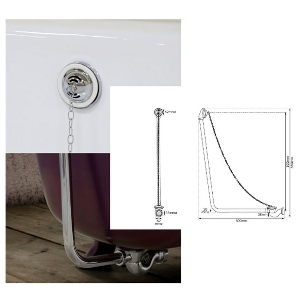 Additional image of JIG Belvoir Cast Iron Free Standing Bath With Feet 1840 x 780mm