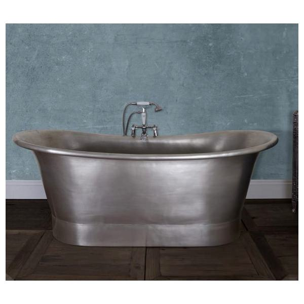 JIG Normandy Free Standing Copper Bath Tin Finish 1730 x 710mm