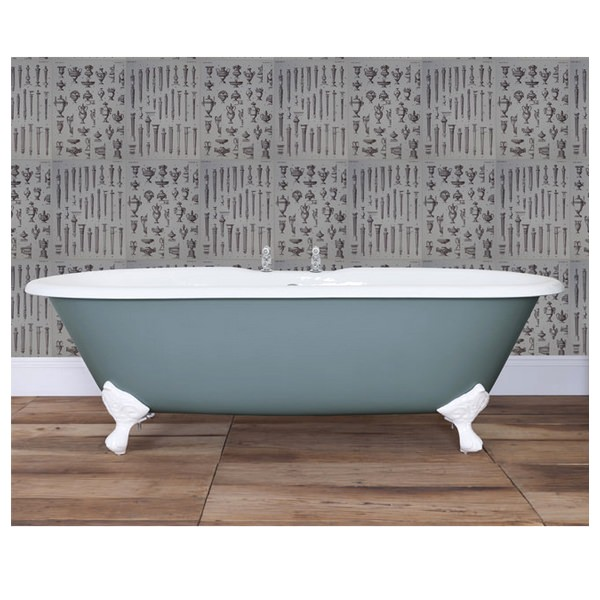 JIG Bisley Cast Iron Free Standing Bath With Feet 1700 x 750mm