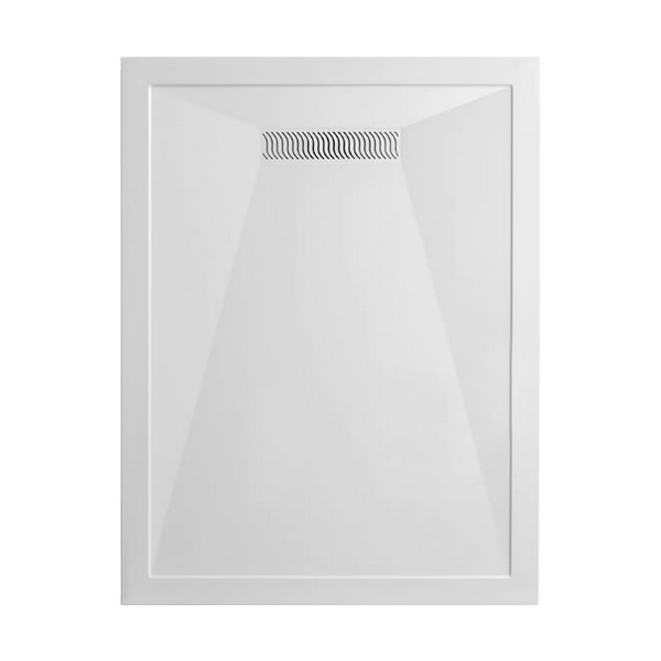 Simpsons Rectangular 25mm Stone Resin Tray With Linear Waste 1200 x 900mm