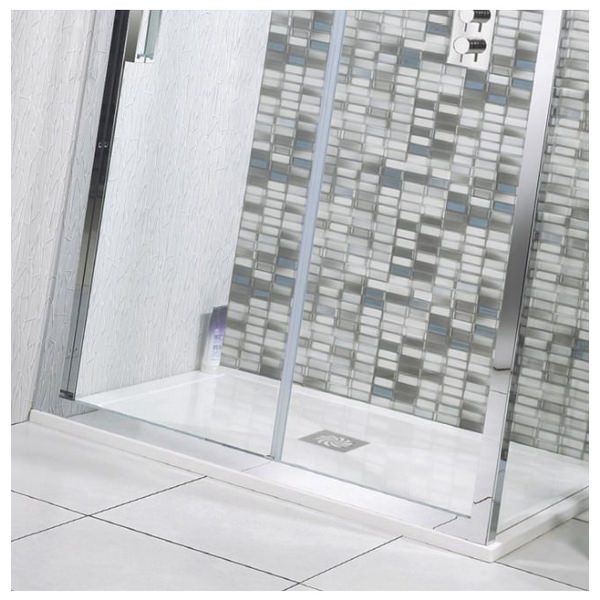 Alternate image of Simpsons 25mm Stone Resin Rectangular Shower Tray With Waste 1700 x 700mm