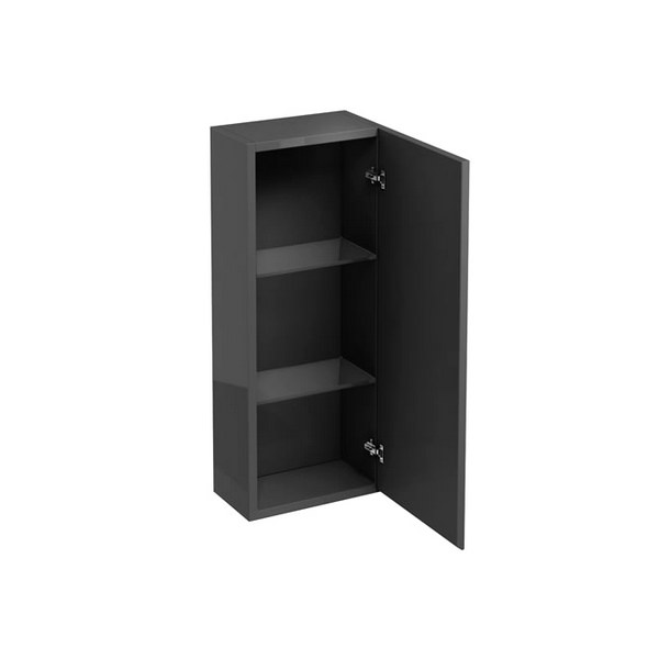 Aqua Cabinets Anthracite Grey 300mm Single Mirrored Door Wall Cabinet