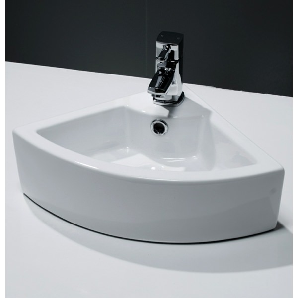 Cassellie 1 Tap Hole Corner Cloakroom Basin 330 x 330mm