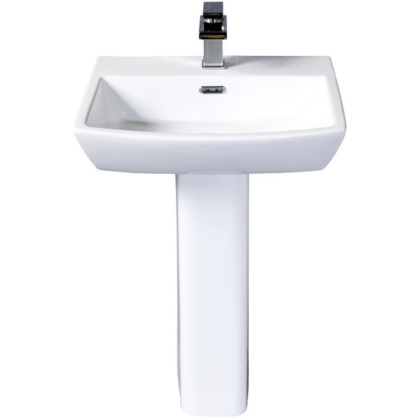 Daisy Lou 520mm 1 Tap Hole Basin With Pedestal