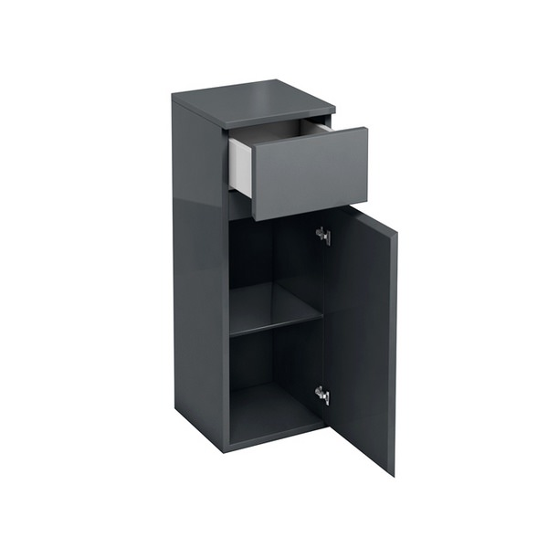 Aqua Cabinets D30 Anthracite Grey 300mm Single Door And Drawer Unit