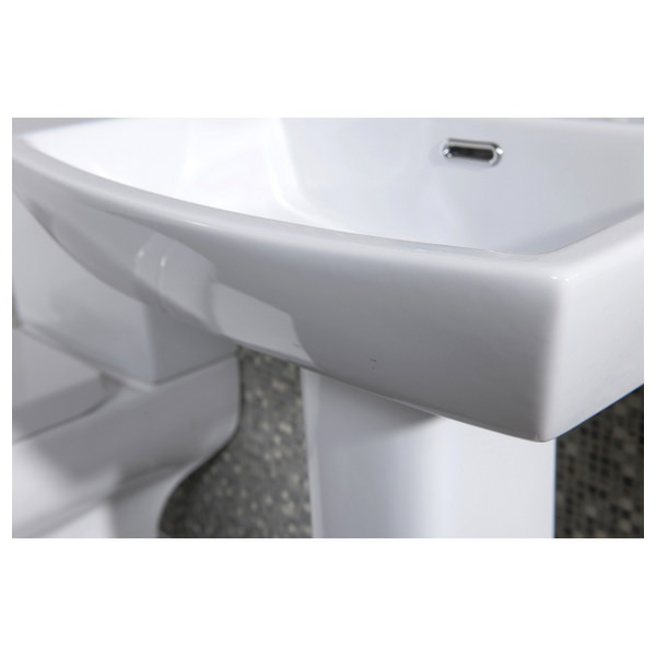 Alternate image of Daisy Lou 520mm 1 Tap Hole Basin With Pedestal