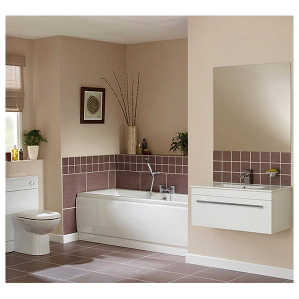 Beo Pearl White Bathroom Suite