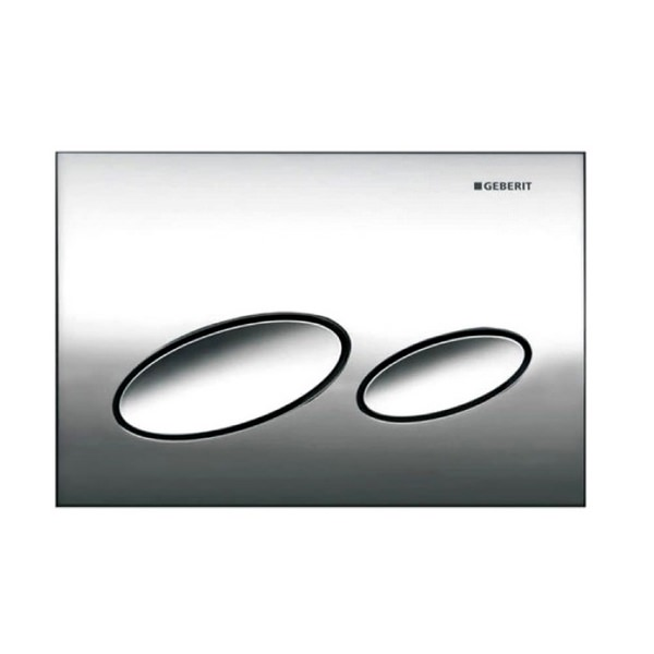 Geberit Kappa20 Dual Flush Plate Gloss Chrome - 115.228.21.1