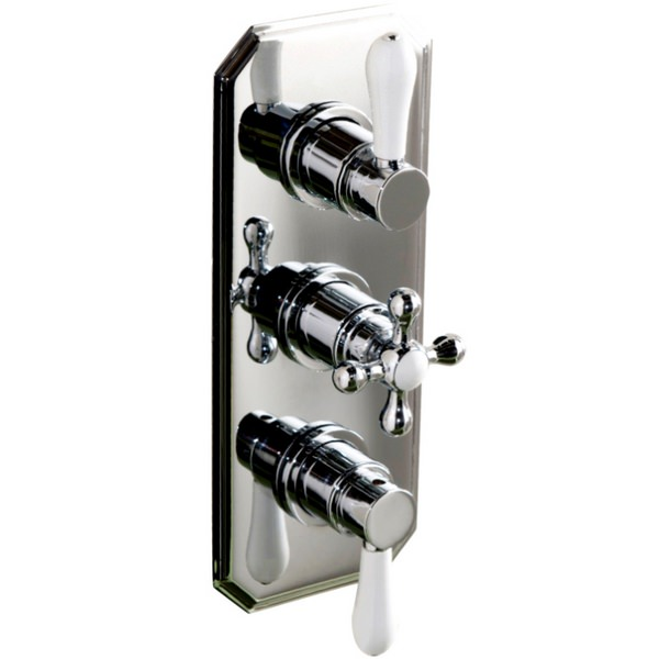 Cassellie Traditional Triple Concealed Thermostatic Shower Valve
