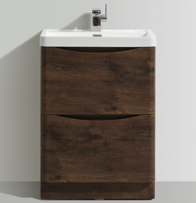 Bali Chestnut 600mm Free Standing Vanity Unit With Basin