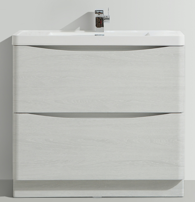 Bali White Ash 900mm Free Standing Vanity Unit With Basin