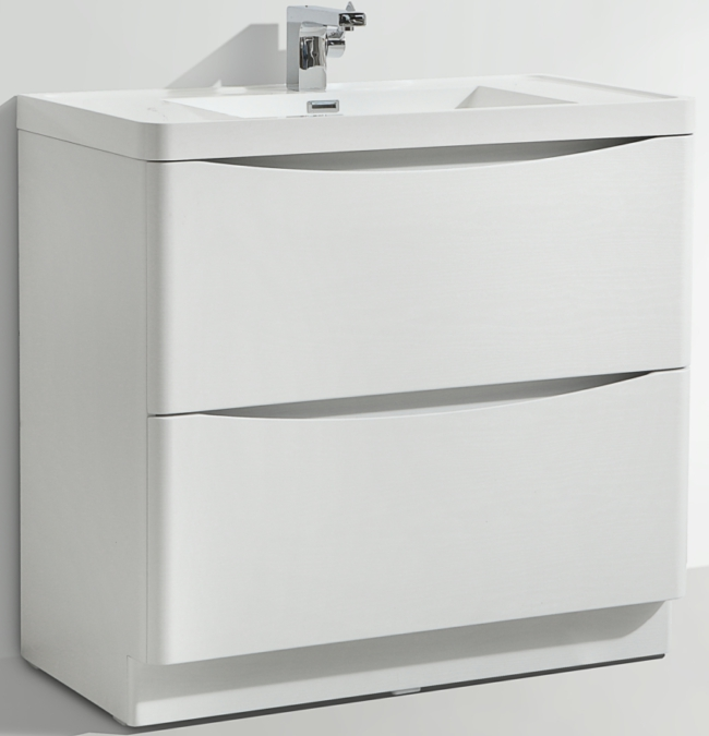 Additional image of Bali White Ash 900mm Free Standing Vanity Unit With Basin