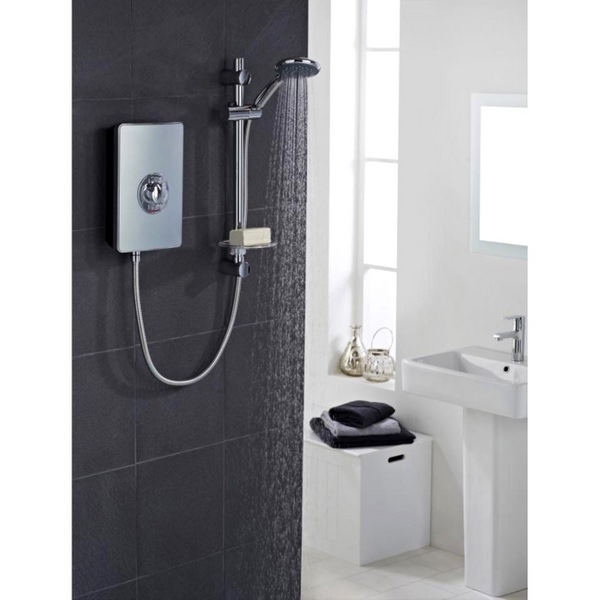 Vado Elegance Metallic And Chrome Electric Shower 8.5kW
