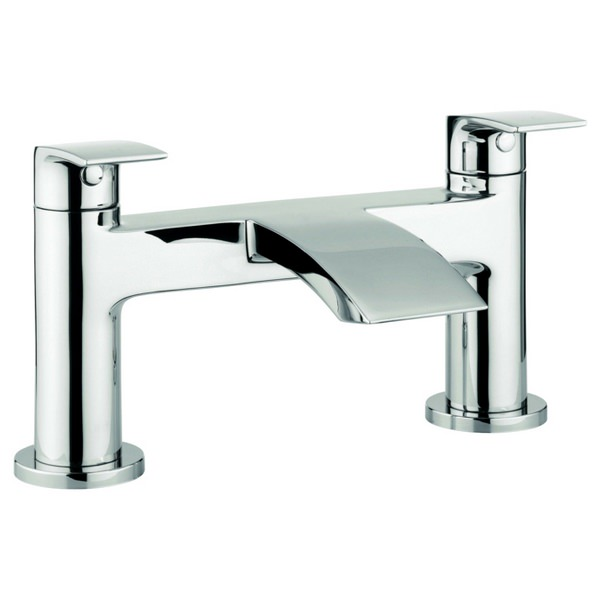 Adora Flow Dual Lever Deck Mounted Bath Filler Tap