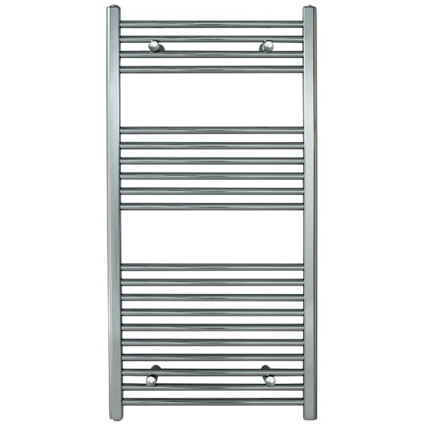 Redroom Elan Straight Chrome Towel Warmer 600 x 1200mm