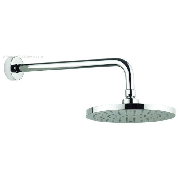 Adora Fusion 200mm Round Fixed Shower Head With 340mm Wall Mounted Arm
