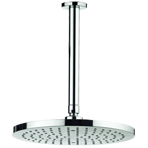 Adora Fusion 250mm Round Fixed Shower Head With 200mm Ceiling Mounted Arm
