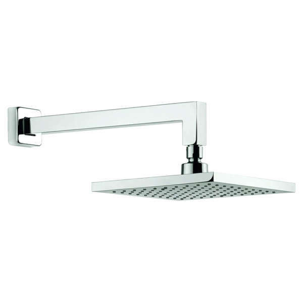 Adora Planet 200mm Square Fixed Shower Head With Wall Mounted Arm