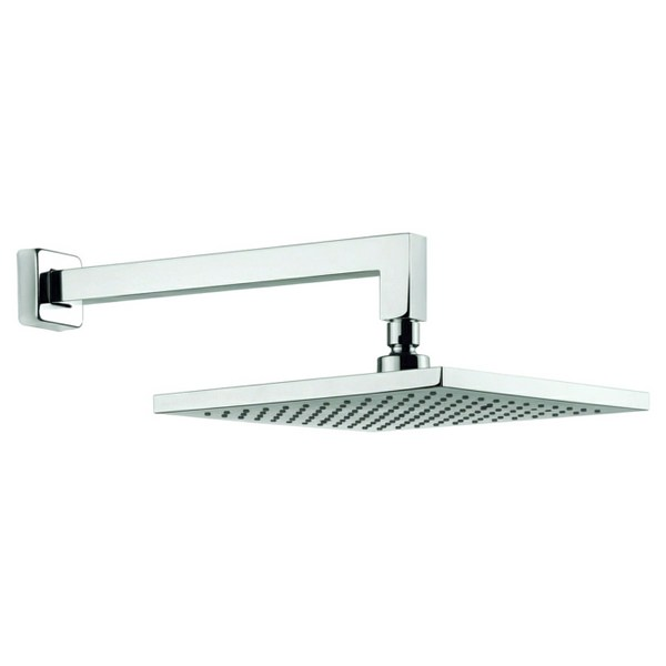 Adora Planet 250mm Square Fixed Shower Head With Wall Mounted Arm