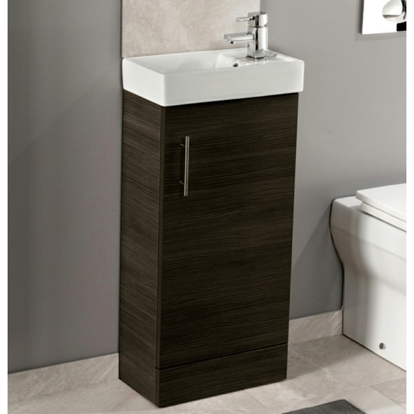 Cassellie Black Ash 400mm Cube Unit With Basin