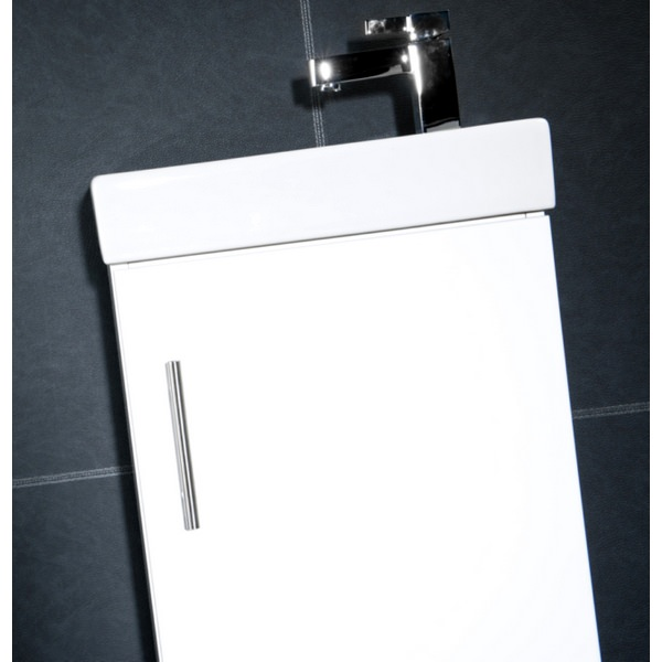 Alternate image of Cassellie Gloss White 400mm Cube Unit With Basin