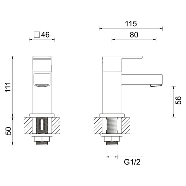 Technical drawing B3-12164 / MBQM140N+