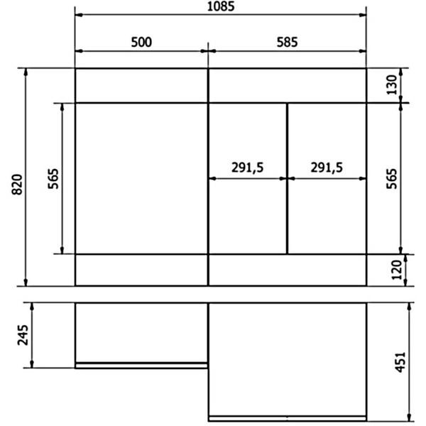 Technical drawing B3-13476 / CHI005-LH