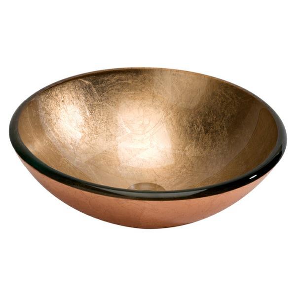 Dune Lavabo Foglio Di Rame 420mm Glass Washbasin Copper