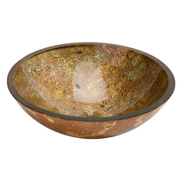 Dune Lavabo Redondo Dorado 420mm Countertop Basin Gold And Copper