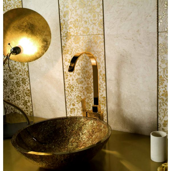 Alternate image of Dune Lavabo Redondo Dorado 420mm Countertop Basin Gold And Copper