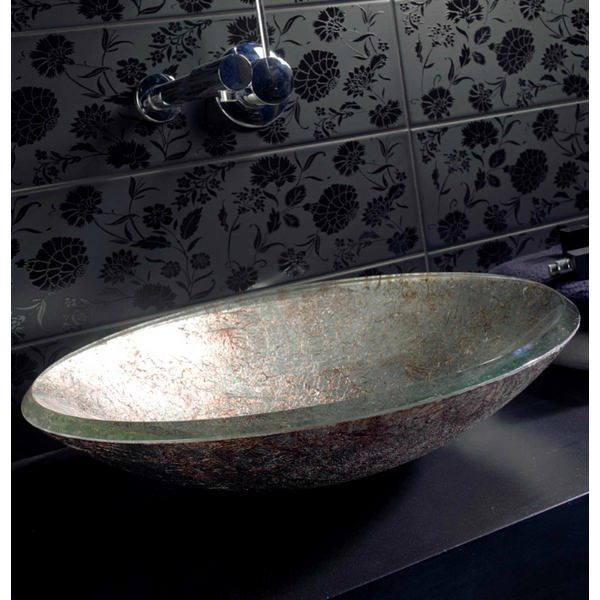 Alternate image of Dune Lavabo Redondo 460mm Countertop Basin Silver And Copper