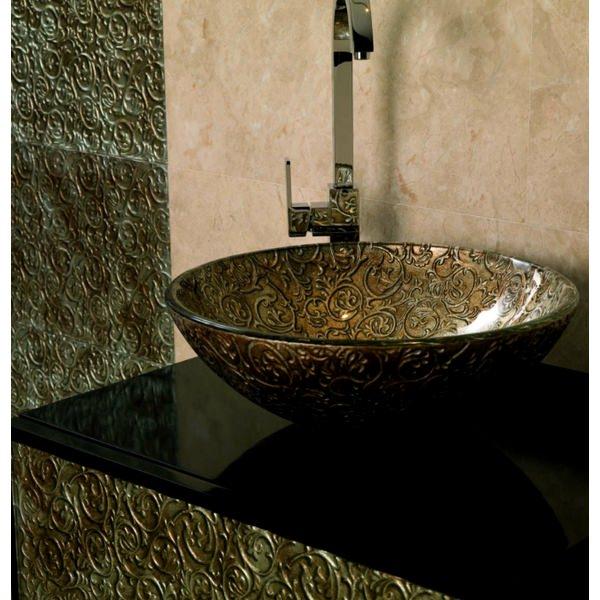 Alternate image of Dune Lavabo Venezia 420mm Round Elegant Glass Washbasin