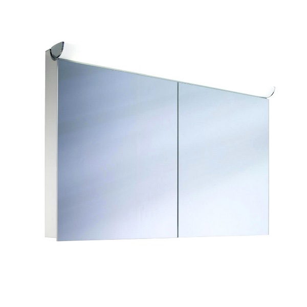 Schneider FaceLine Double Door Illuminated Mirror Cabinet 900mm