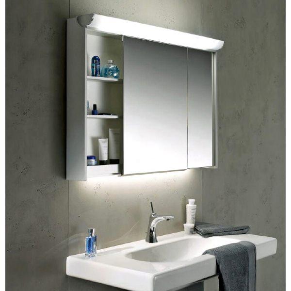 Alternate image of Schneider Slideline 1300mm 2 Sliding Mirror Doors Cabinet