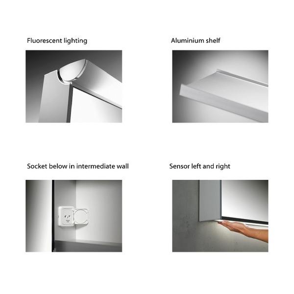 Additional image of Schneider Slideline 1300mm 2 Sliding Mirror Doors Cabinet