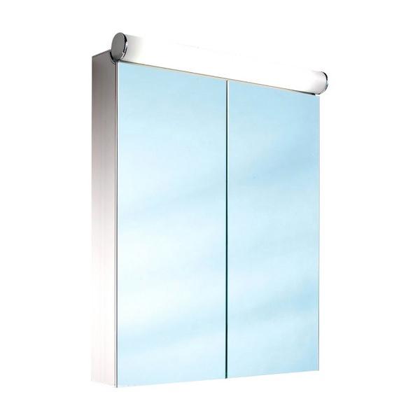Schneider Prideline 2 Door 1200mm Mirror Cabinet With Flourescent Lighting