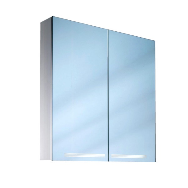 Schneider Graceline 2 Door 1000mm Mirror Cabinet With LED Light