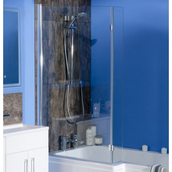 Cassellie Square Bath Screen And Flipper Panel